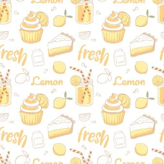Sobremesas de limão padrão sem emenda