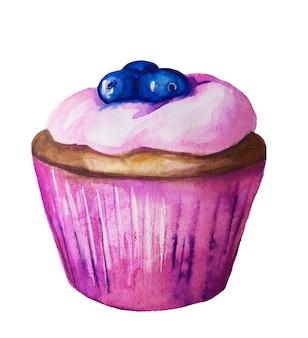 Sobremesas doces em aquarela