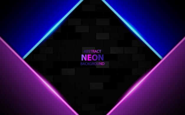 Sobreposição abstrata de fundo com luz de neon