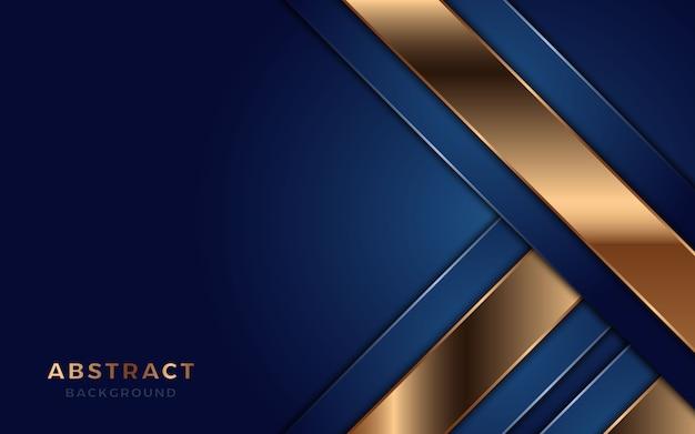 Sobreposição de fundo camada azul com linhas douradas.