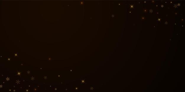 Sobreposição de natal de neve estrelada esparsa. luzes de natal, bokeh, flocos de neve, estrelas no fundo à noite. modelo de sobreposição espumante real de luxo. ilustração em vetor justo.