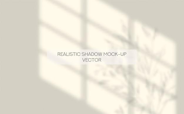 Sobreposição de sombras de folhas de janela e árvore