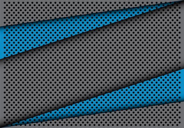 Sobreposição de triângulo cinza azul abstrato