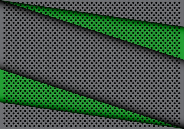 Sobreposição de triângulo cinza verde abstrato