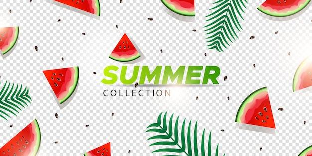 Sobreposição de verão melancia