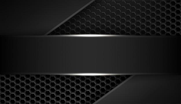Sobreposição forma abstrata quadro preto layout design tecnologia com brilhos e efeito de luz