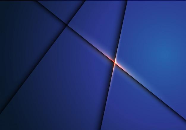 Sobreposição metálica azul escuro abstrata com fundo claro do ouro