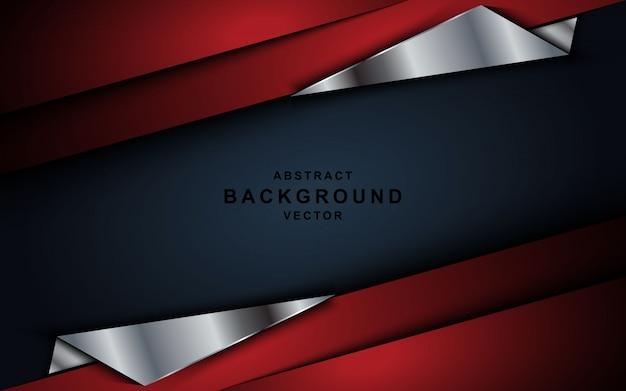 Sobreposição vermelha camadas fundo em cinza escuro.