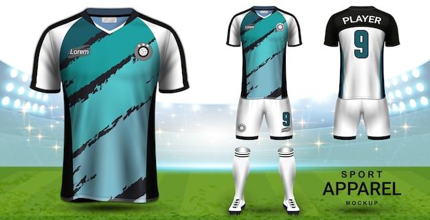 Soccer jersey and football kit modelo de maquete de apresentação