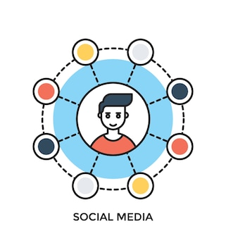 Social media ícone de vetor plano