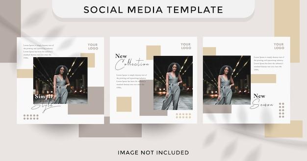 Social media template design fashion style.