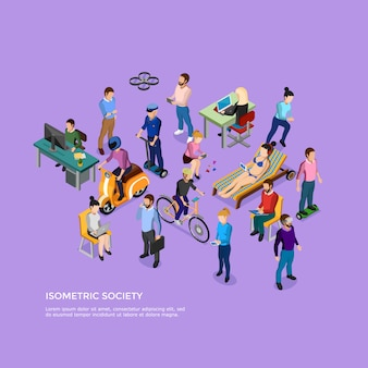 Sociedade de pessoas isométrica