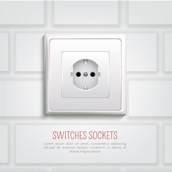Socket on wall ilustração