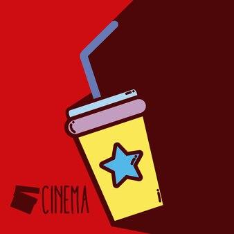 Soda cup cinema bonito dos desenhos animados conceito
