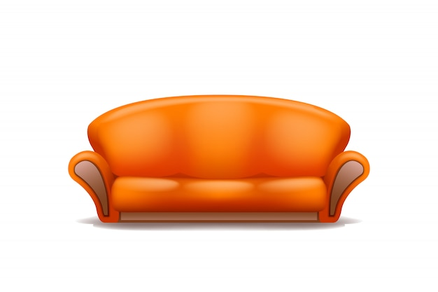 Sofá laranja