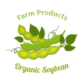 Soja orgânica natural, nutrição vegetariana