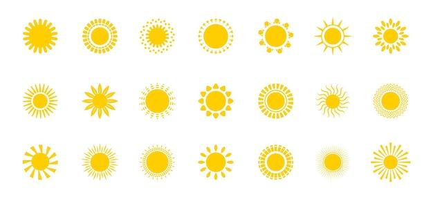 Sol brilhante definir sinal do pôr do sol do vetor