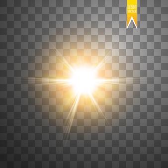 Sol isolado em fundo transparente