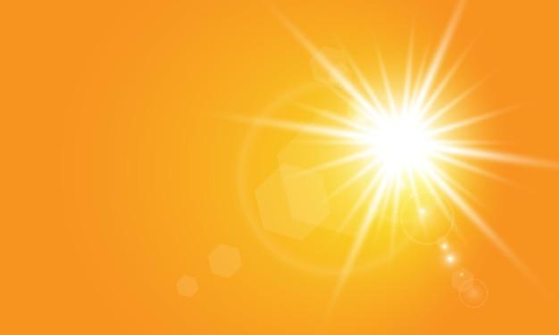Sol quente em fundo amarelo