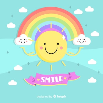 Sol, sorrindo, fundo