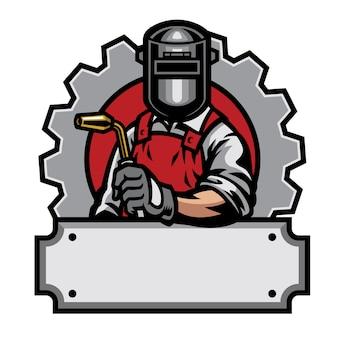 Soldador com ferramentas de solda