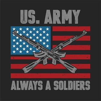 Soldados do exército dos eua isolado estoque preto vetor