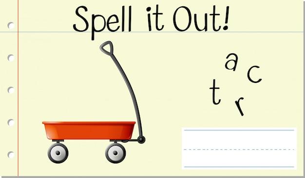 Soletrar carrinho de palavras em inglês