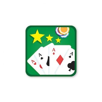 Solitaire app ícone logotipo vector isolado
