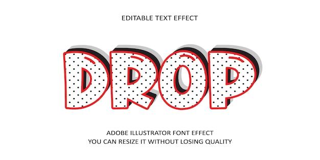 Soltar texto editável efeito