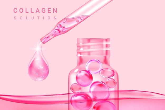 Solução cosmética, essência suprema de colágeno