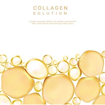 Solução de cosméticos. suprema essência de colágeno.