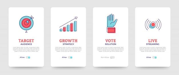Solução de negócios de design de cartão