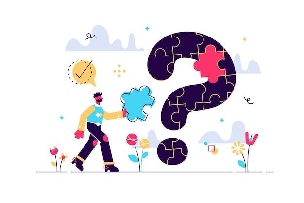 Solução do problema e questão do quebra-cabeça