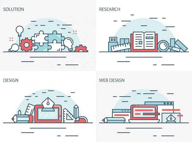 Solução, pesquisa e web