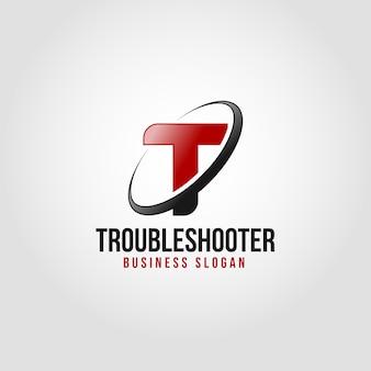 Solucionador de problemas - modelo de logotipo da letra t