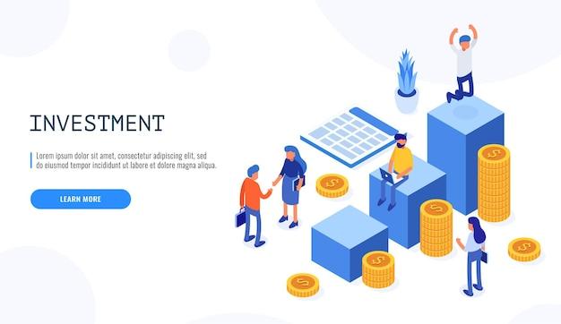 Soluções de comércio para investimentos, conceito de análise.