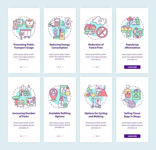 Soluções para conjunto de telas de páginas de aplicativos para dispositivos móveis com poluição do ar
