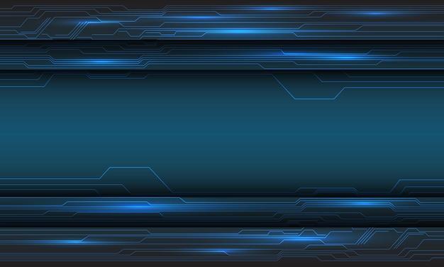 Sombra de linha de padrão cibernético de circuito de tecnologia azul abstrato com ilustração de fundo futurista moderno de design de espaço em branco.