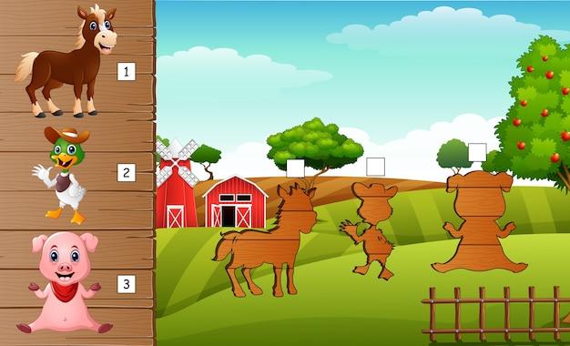 Sombra de maturação do jogo de animais de fazenda