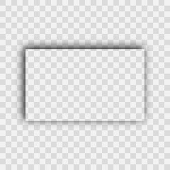 Sombra realista transparente escura. sombra de retângulo isolada em fundo transparente. ilustração vetorial.
