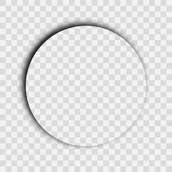 Sombra realista transparente escura. sombra do círculo isolada em fundo transparente. ilustração vetorial.