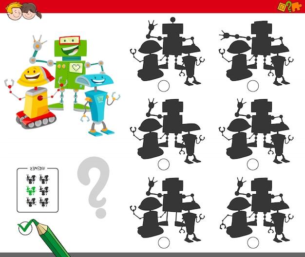 Sombra sem diferenças jogo com robôs