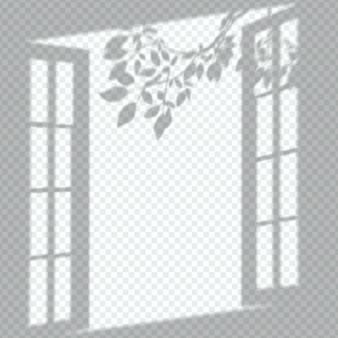 Sombras de janelas transparentes sobrepõem efeito