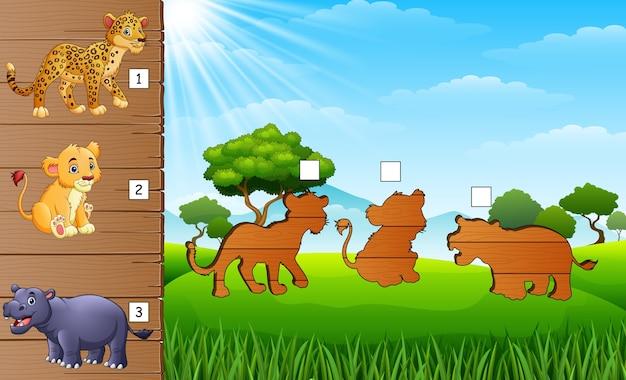 Sombreamento de jogo de animais selvagens