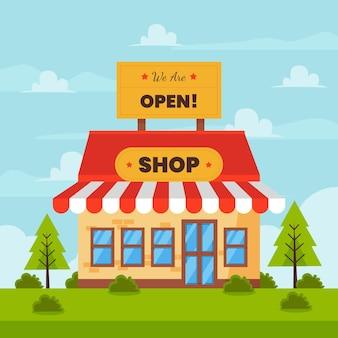 Somos loja aberta e pinheiros jovens