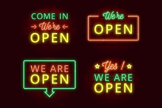 Somos uma coleção aberta de sinais de néon