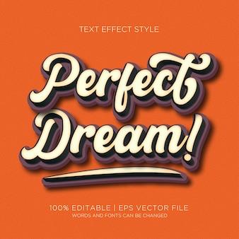 Sonho perfeito! efeitos do texto