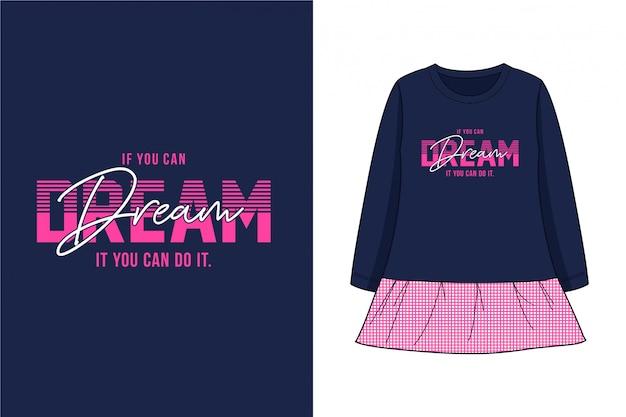 Sonho - t-shirt gráfico