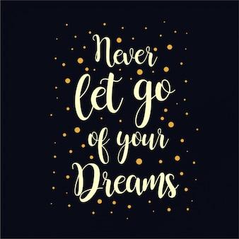 Sonhos de citação de letras