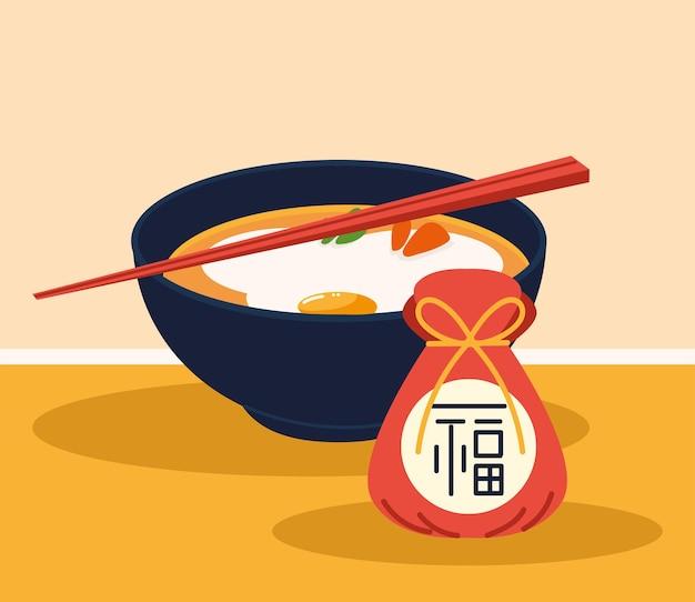 Sopa coreana e presente